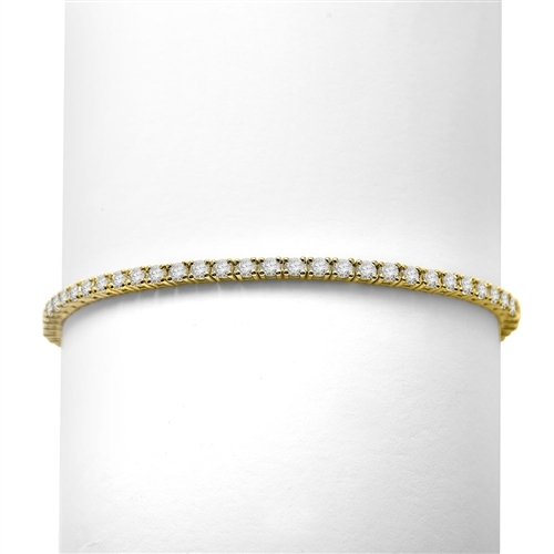 3.10ct Classic tennis bracelet in Solid Yellow Gold