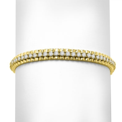 14k solid yellow gold diamond essence bracelet