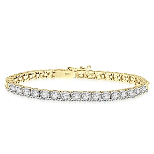 0.25 cts 7 Inch tennis bracelet in Yellow Gold