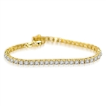 2.4ct 7-tennis bracelet in 14K Solid Yellow Gold