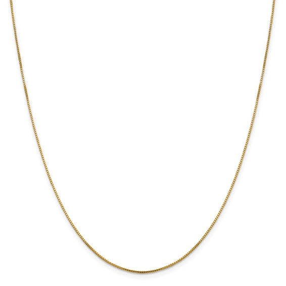 14K solid yellow gold 1.0 mm Sparkle Octagonal Box chain