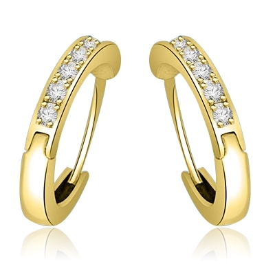 Hoop Earrings set in 14K Solid Gold