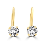 0.5ct round brilliant stone earrings in Solid Gold