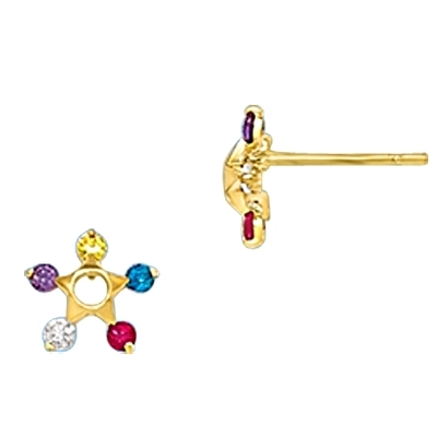 Diamond Essence Colorful Star Earring, 0.50 ct.t.w.-GEQGK782
