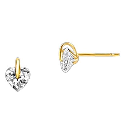 Diamond Essence Heart Studs In Tension Setting, 0.5 ct.t.w.-GEQGK869