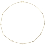 Diamond Essence Nine Station Necklace With Round Brilliant Bezel-set Stones,