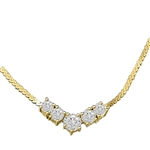 1.5 ct.Celebration Necklace in Solid Gold
