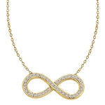 Diamond Essence Infinity Necklace with 0.50 ct.t.w. of Round Brilliant Melee - GNDKP463