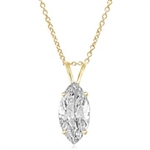 14K Solid Gold, Marquise cut Diamond Essence pendant, 1.0 carat. Also available in 2.0 cts. and 3.0 cts.