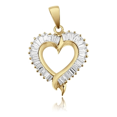 Valentine special, Diamond Essence sparkling baguettes set in prong style channel setting of 14K Solid Gold. 2.0 cts.t.w.