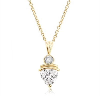 2.5ct Diamond Essence stone pendant in yellow gold
