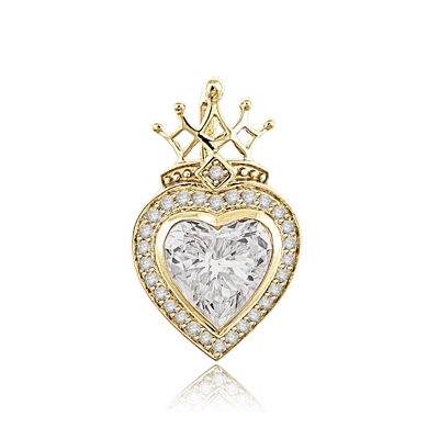 7ct majestic looking heart cut stone in Yellow gold