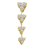 Diamond Essence Floral Journey Pendant, 0.30 Ct.T.W. in 14K Solid Yellow Gold.