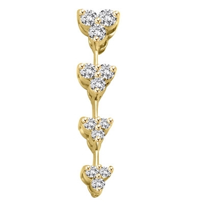 Diamond essence floral journey pendant 030 cttw in 14k solid alternative views aloadofball Images