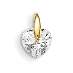 Diamond Essence 1.0 carat Heart set in 14K Solid Yellow Gold tension setting.