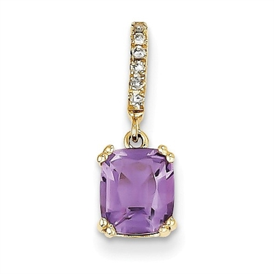 essence yellow with gold diamond cut p french rectangular pendant amethyst solitaire htm