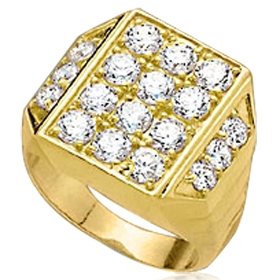 Simply Amazing ring for your perfect man. 3.5 Cts. T.W. set in 14K Solid Yellow Gold.
