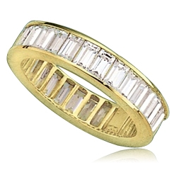 Ring – channel set baguettes eternity band