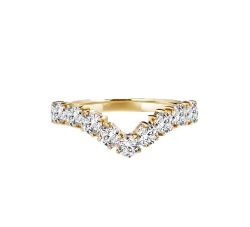 V-shaped rings of Diamond Essence jewels are beautiful on their own, or stack several to wear as a set. 1.0 ct. t.w. each. 14K Solid Gold.