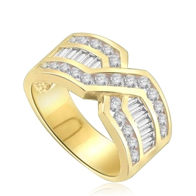 Tenderly- 14K Solid Gold  ìXî ring 2.5 cts.t.w