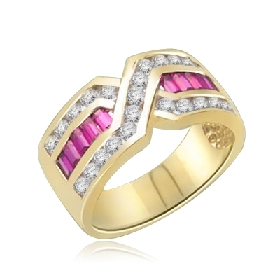 Tenderly- Ruby 14K Solid Gold  ìXî ring 2.5 cts.t.w