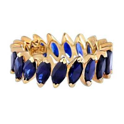 ring-eternity marquise cut sapphire stone in white gold