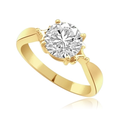14K Solid Yellow Gold ring for shine you