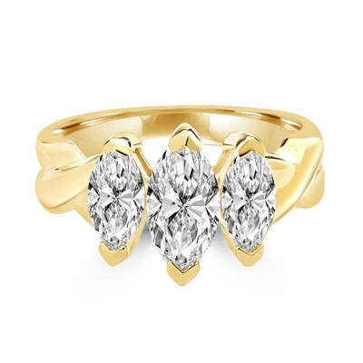 marquise 14k solid gold ring