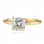 14k yellow gold ring with cushion cut  stone