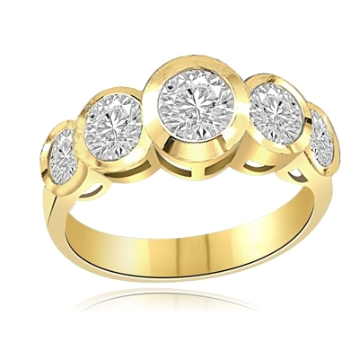 Five Alarm Fire-Beautiful ring set in 14K Solid Yellow Gold
