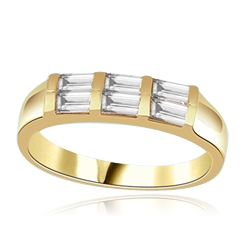 0.75ct channel set in three heavenly rows in 14K Solid Yellow Gold