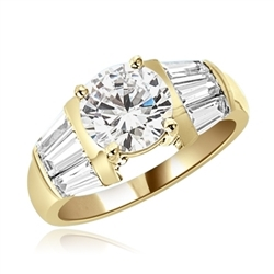 3cts Brilliant Ring in yellow gold