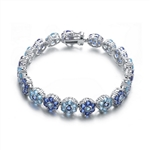 Diamond Essence navy And Sky Blue Hued Beautifully Placed Bracelet