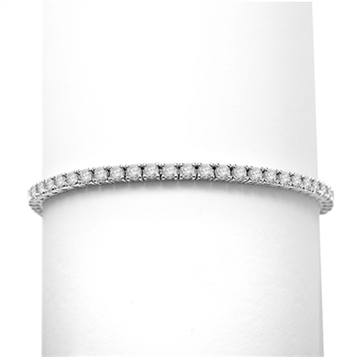 6.88ct Classic tennis bracelet in silver