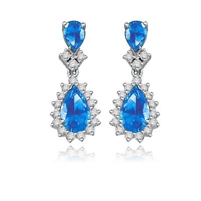 7ct  Sapphire essence earrings in silver