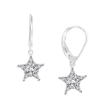 Diamond Essence dangling Star Lever Back earrings