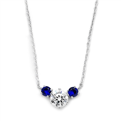 Diamond Essence and sapphire Essence together make a special gift. 1.75 cts.t.w. Platinum Plated Sterling Silver.(Image In Yellow But Product In Platinum Plated Sterling Silver.)