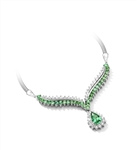 4.5 ct. Emerald Essence stones necklace in Platinum Plated Sterling Silver