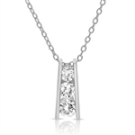 Diamond Essence Three Stone Pendant with 0.55 ct.t.w. of Round Brilliant Stones - SPC6117Z