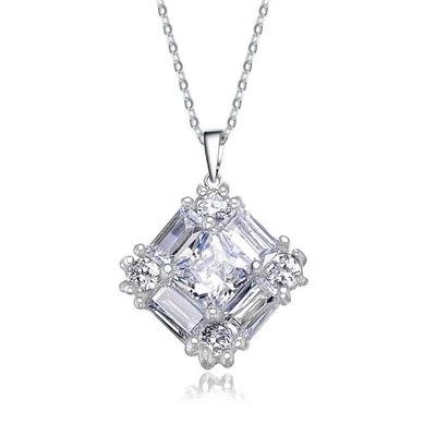 Little beauty diamond essence pendant with traditional baguettes alternative views aloadofball Gallery