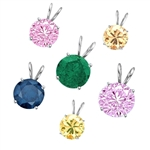 3ct different color stone pendants Silver