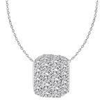 Diamond Essence Slide Pendant with round stones all around 3.0 ct. tw. in Platinum Plated Sterling Silver.