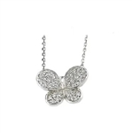 Platinum Plated Sterling Silver butterfly pendant