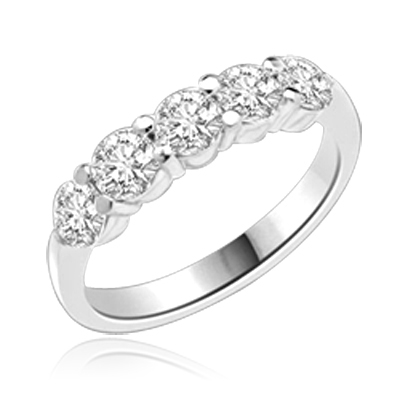 Diamond Essence Band with Round Brilliant Stones, 1.25 cts.t.w. - SRD1147