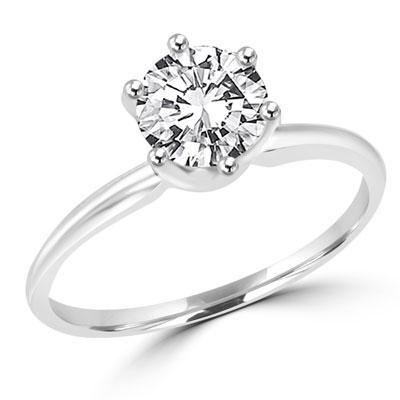 c0b83e2a0e46f Diamond Essence 1 carat round brilliant stone set in Platinum Plated ...