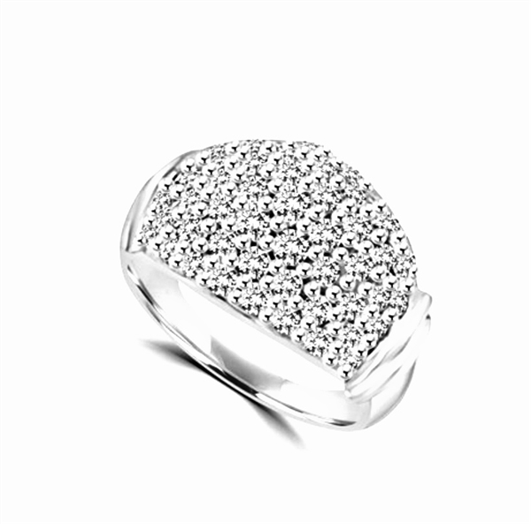 Ring – pave ring with round pieces