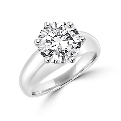 Diamond Essence Solitaire Ring with 3.50 cts.t.w. of Round Brilliant Stone - SRD3689