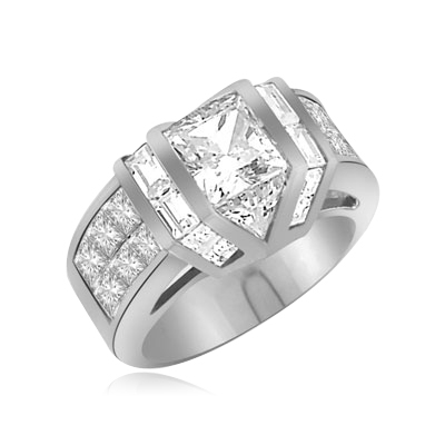 Ring–octrillion stone,baguettes,princess-cut stone