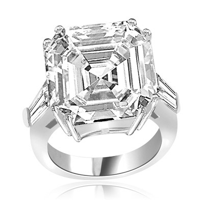Expensive mini aristocrat of diamond cuts ring in Platinum Plated Sterling Silver
