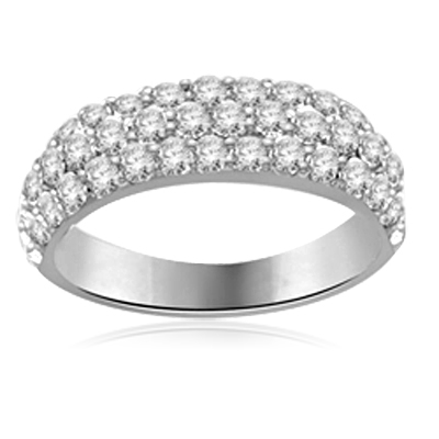 1.50 ct. Eternity Ring Platinum Plated Sterling Silver